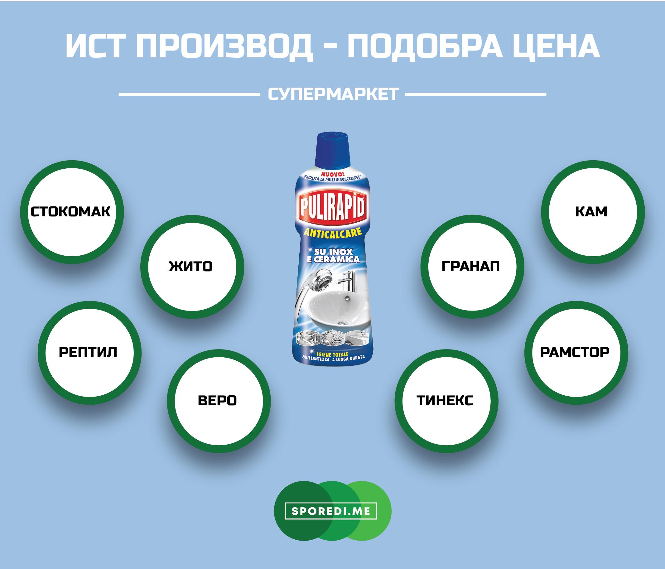Каде средството за чистење PULIRAPID има најповолна цена?