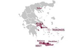 Главните жаришта на делта сој во Грција